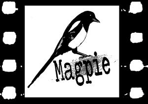 magpie cinema logo bw
